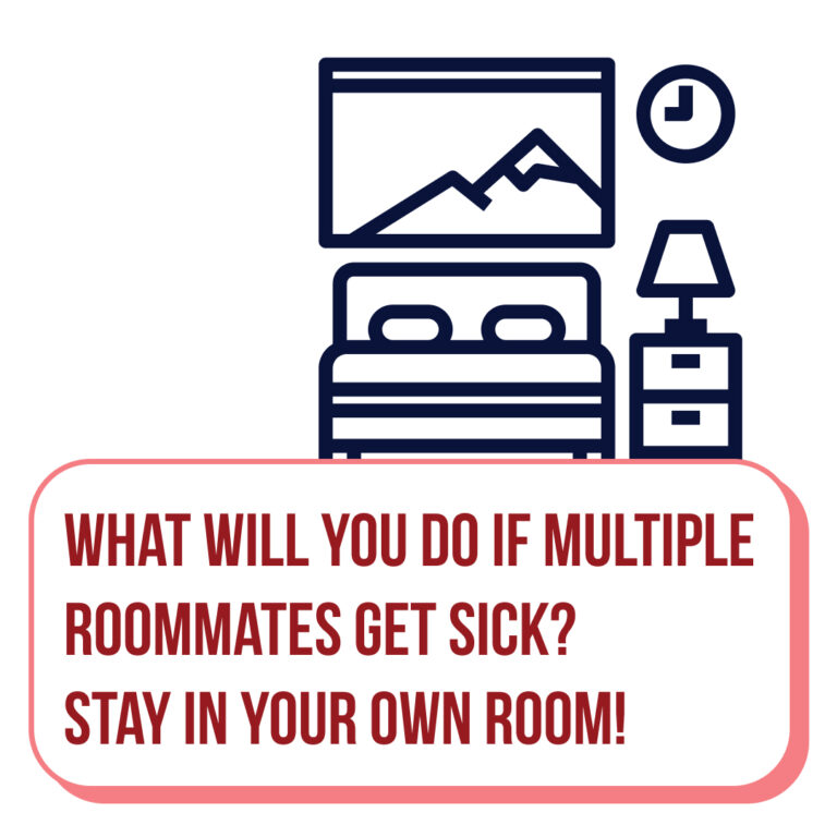 What will you do if multiple room mates get sick? Stay in your own room!
