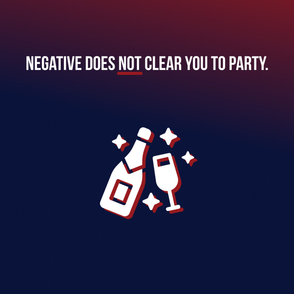 Negative does not mean clear to party!