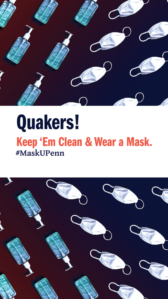 Quakers Keep 'em Clean & Wear Masks