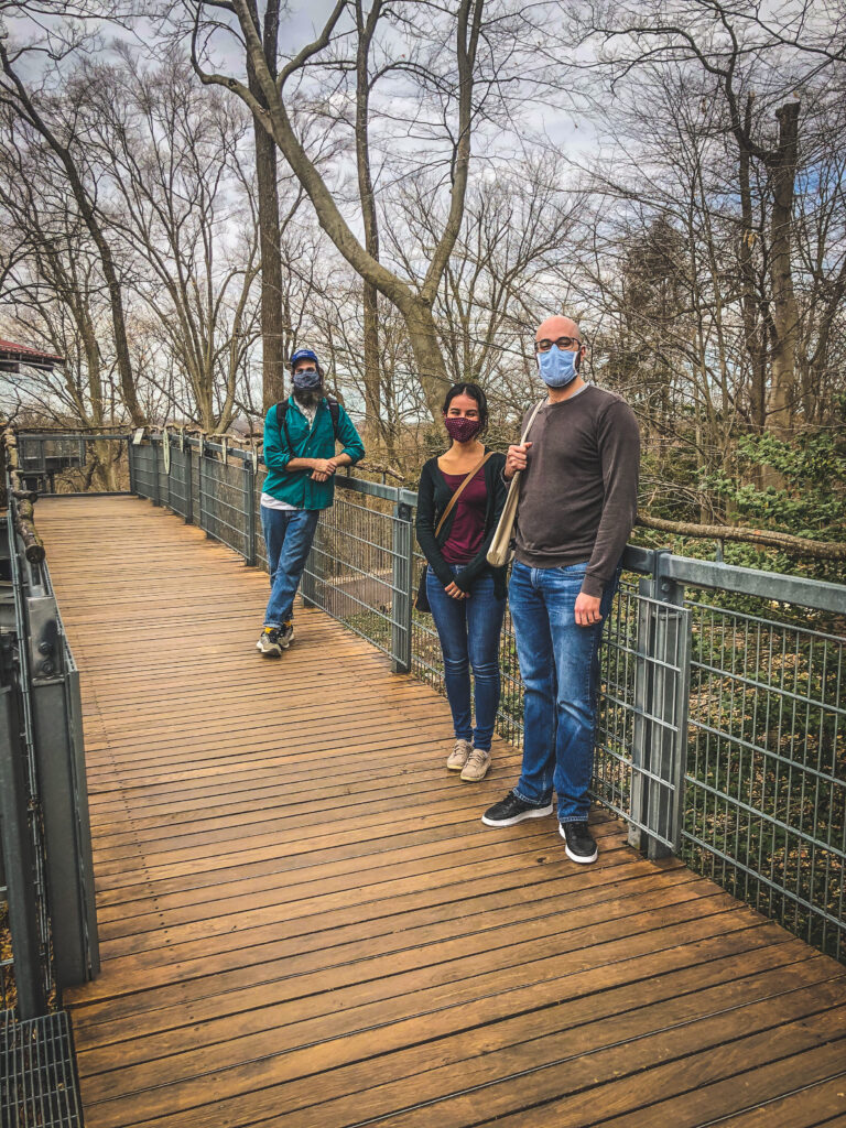 Students at the Morris Arboretum during Spring Stay
