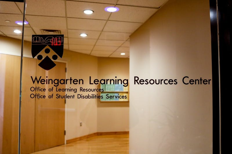 Weingarten Learning Resource Center Door Sign