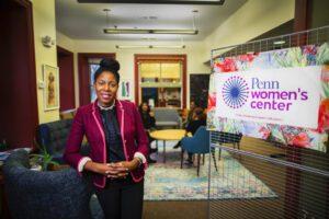 Sherisse Laud-Hammond standing in the Penn Women's Center